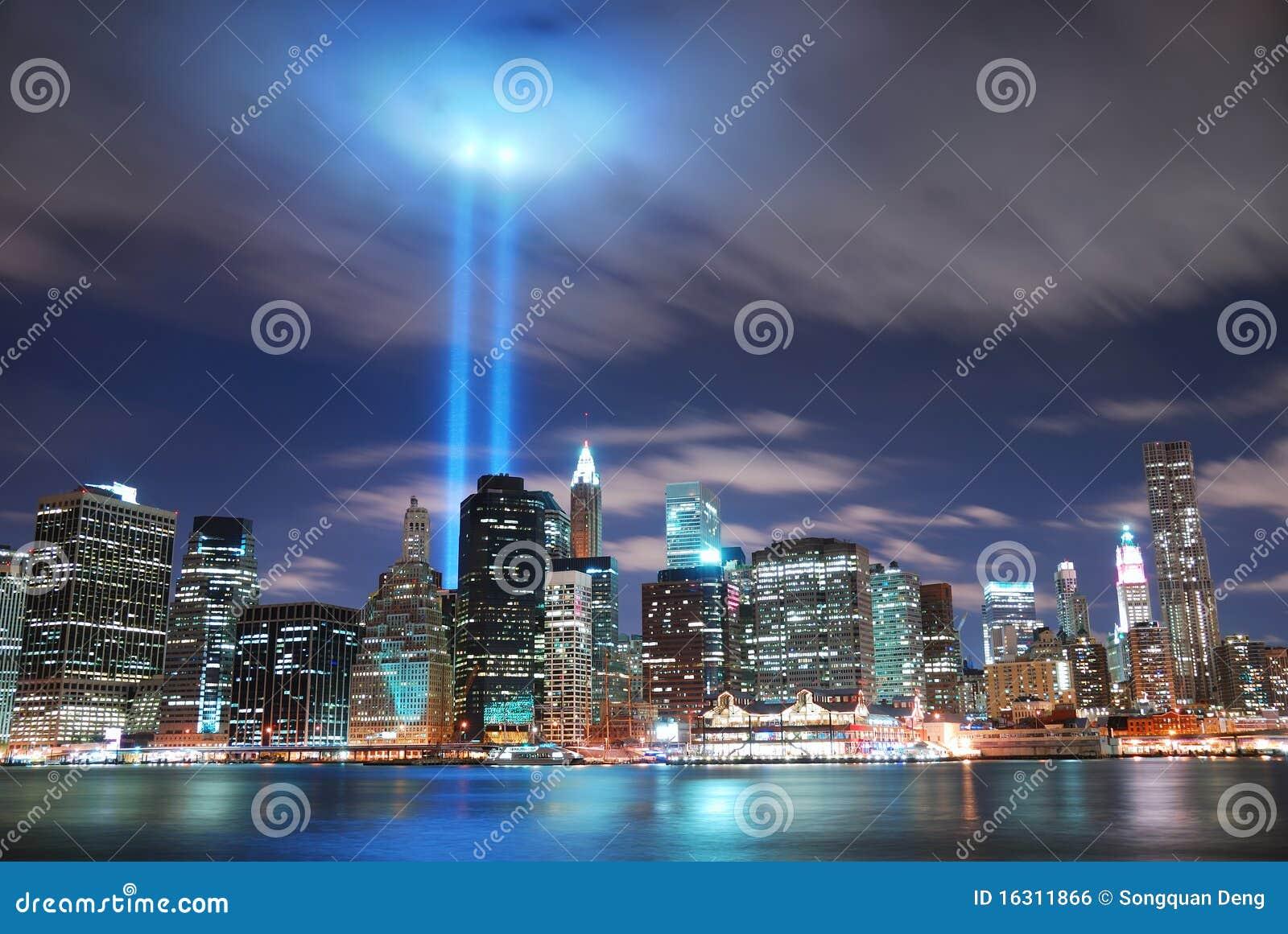 Miasta Manhattan nowa noc York
