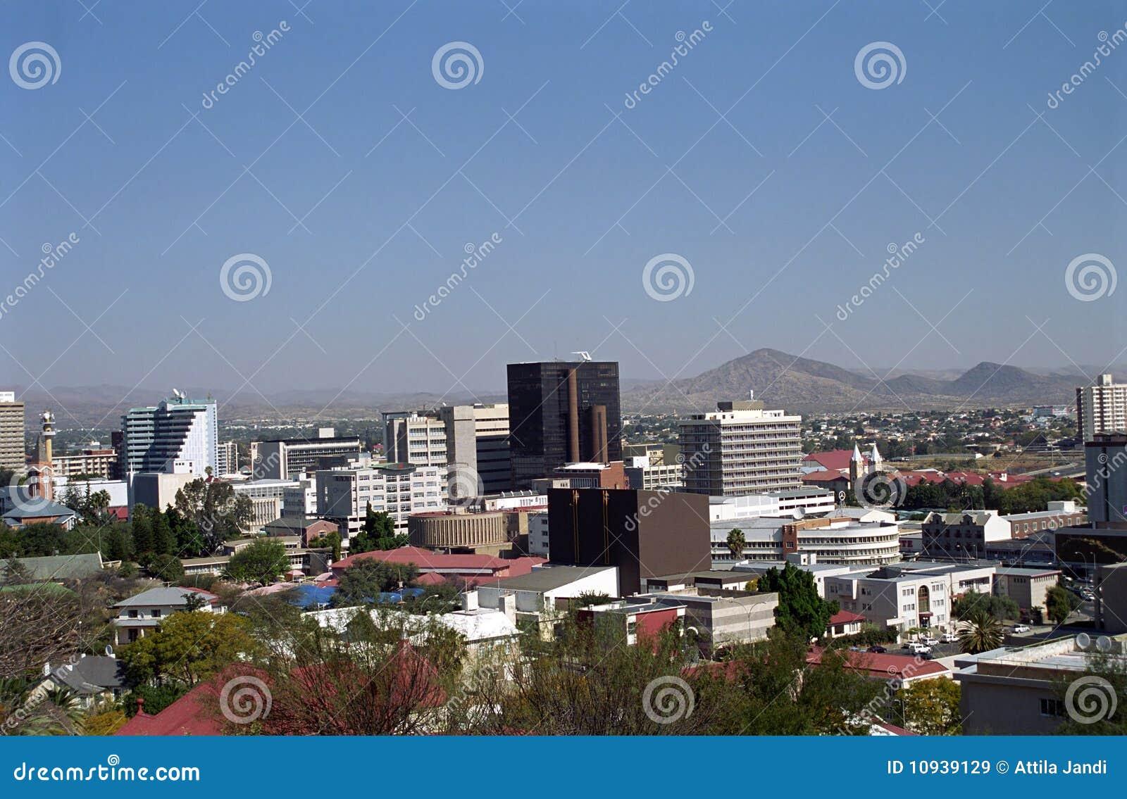 Miasta Namibia widok Windhoek