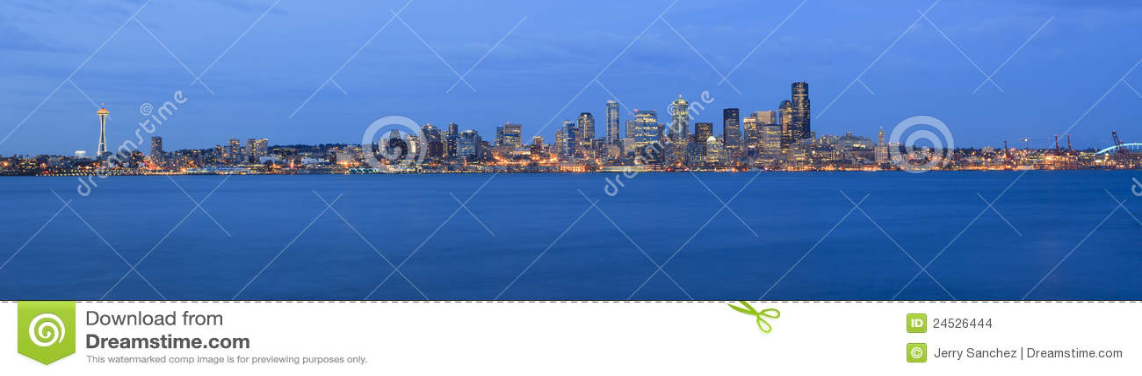 Miasta noc Seattle czas
