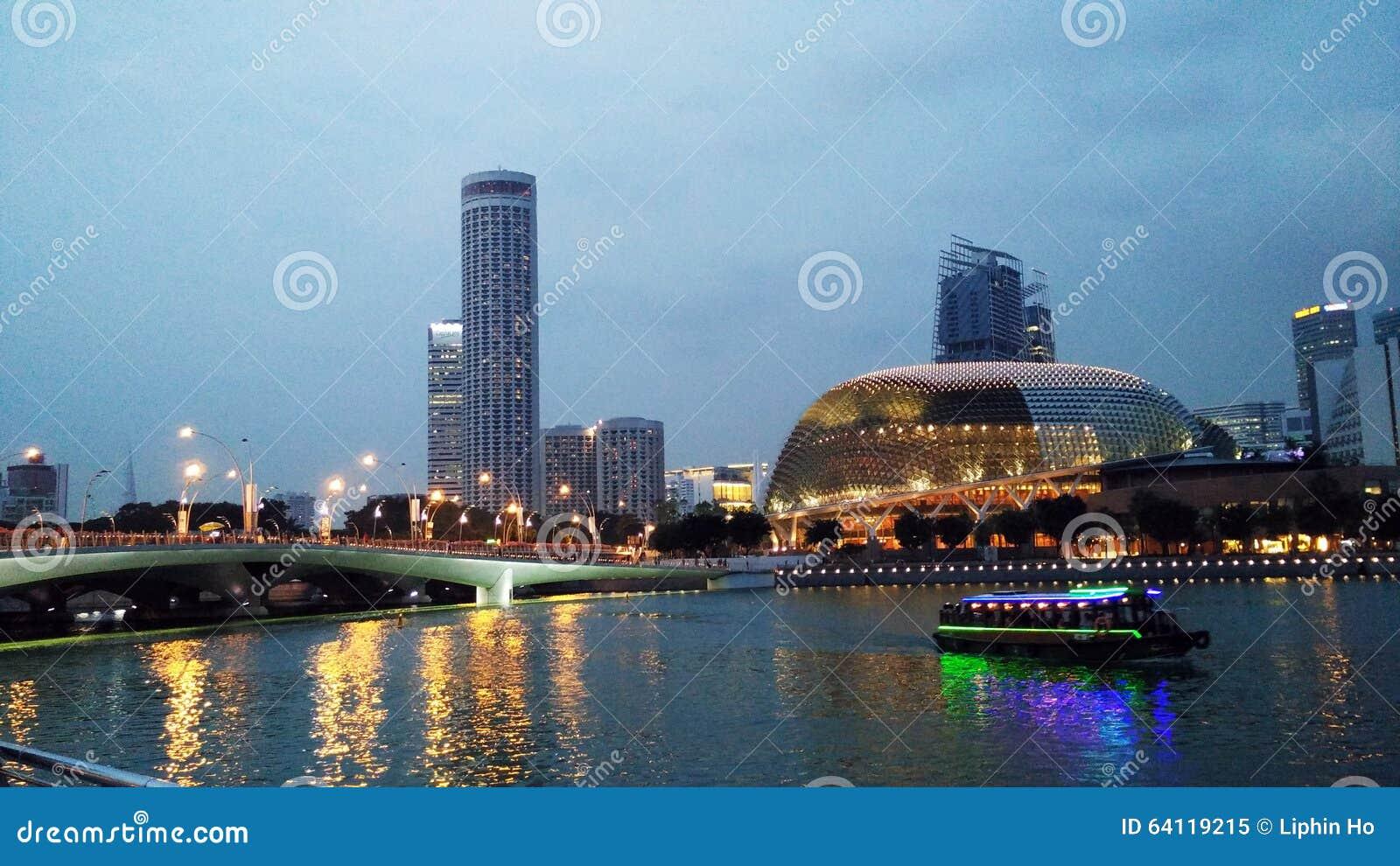 Miasta pejzaż miejski rzeka Singapore