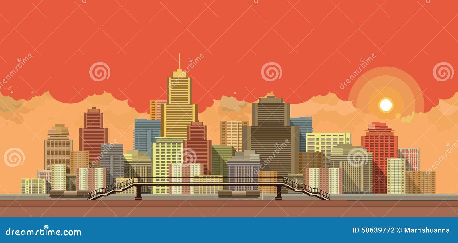 Miasta tła wieczór