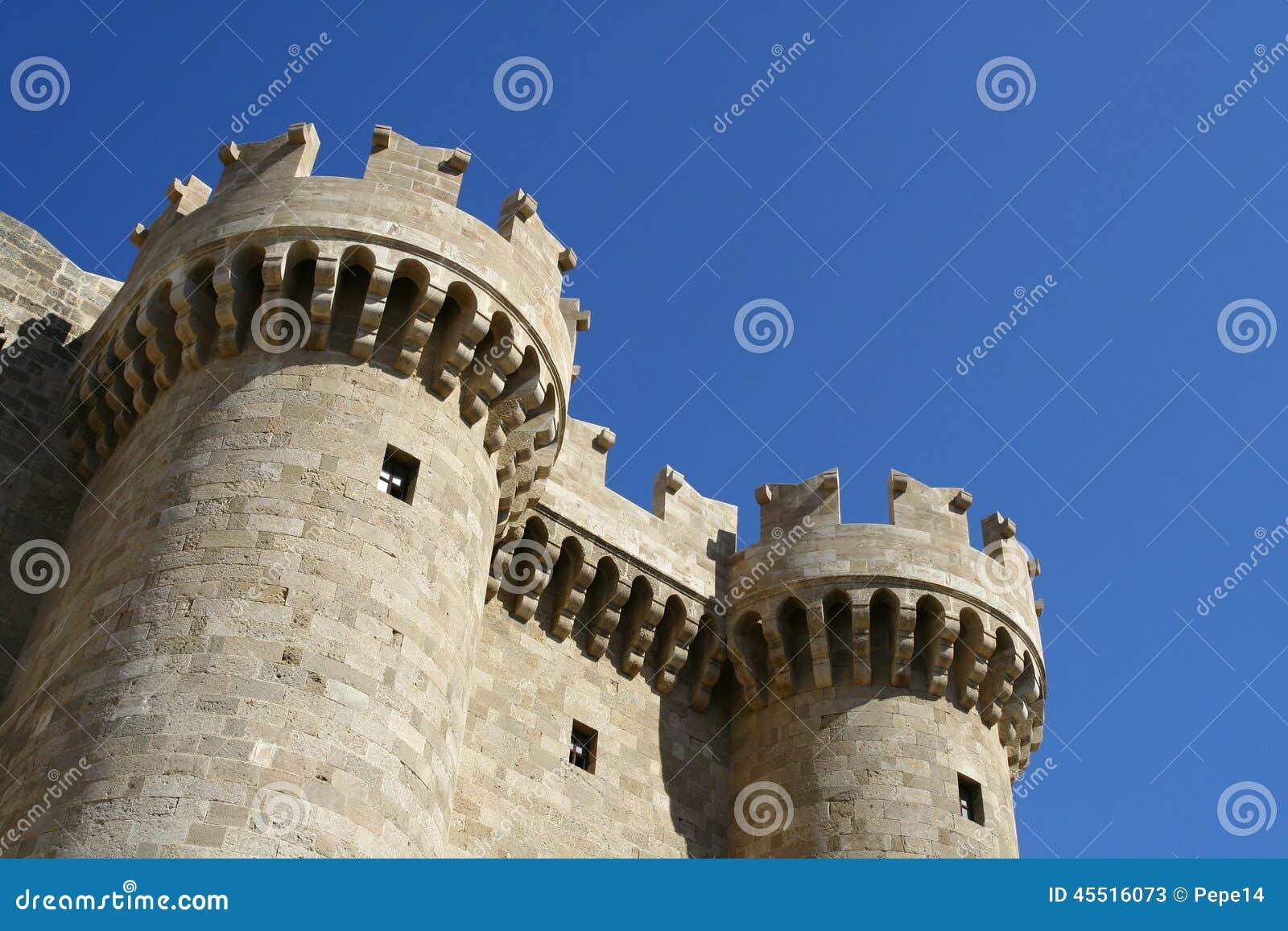 Miasta uroczystego mistrza pałac Rhodes