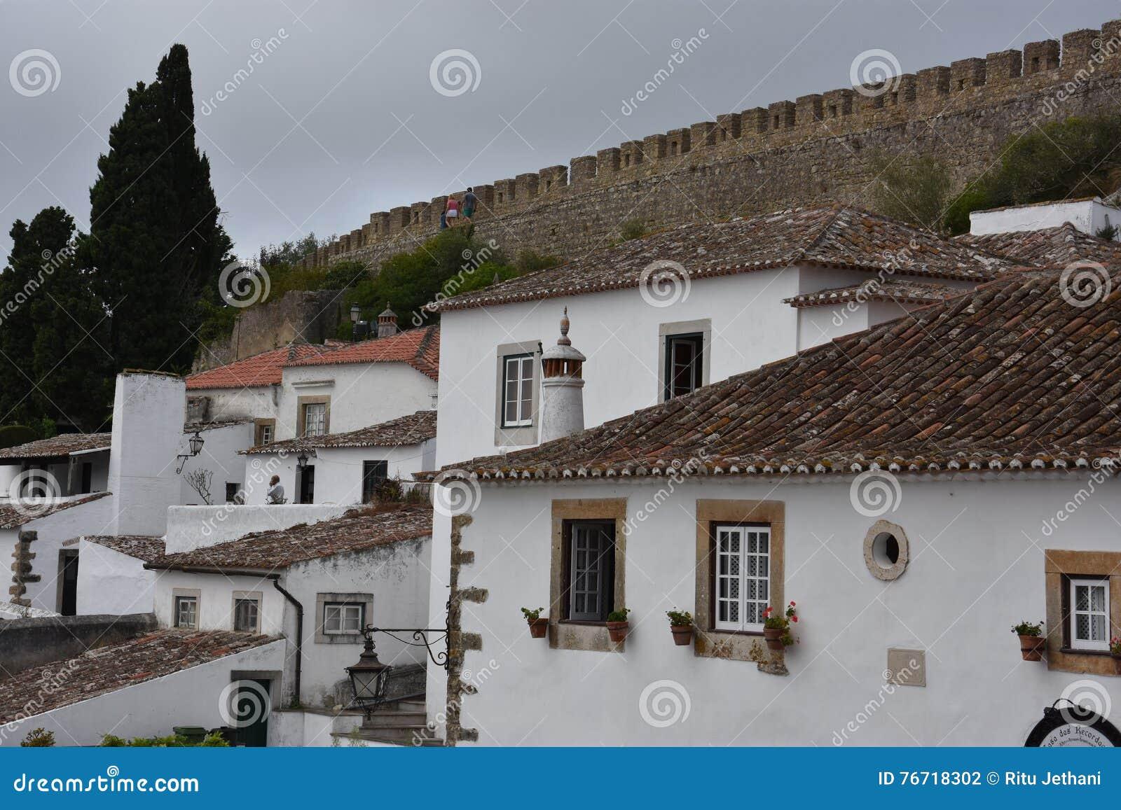 Miasteczko Obidos w Portugalia