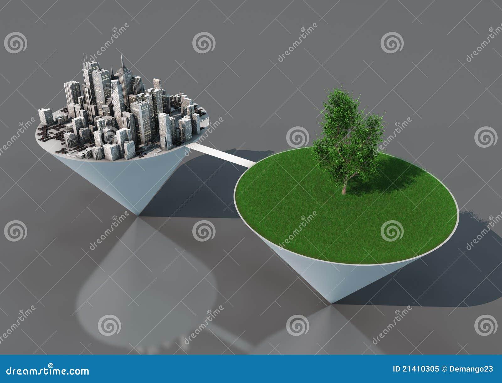 Miasto balansowa natura
