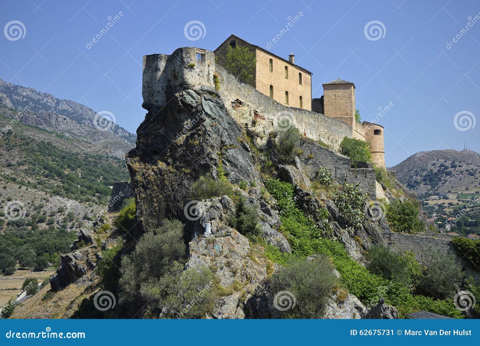 Miasto Corte w Corsica