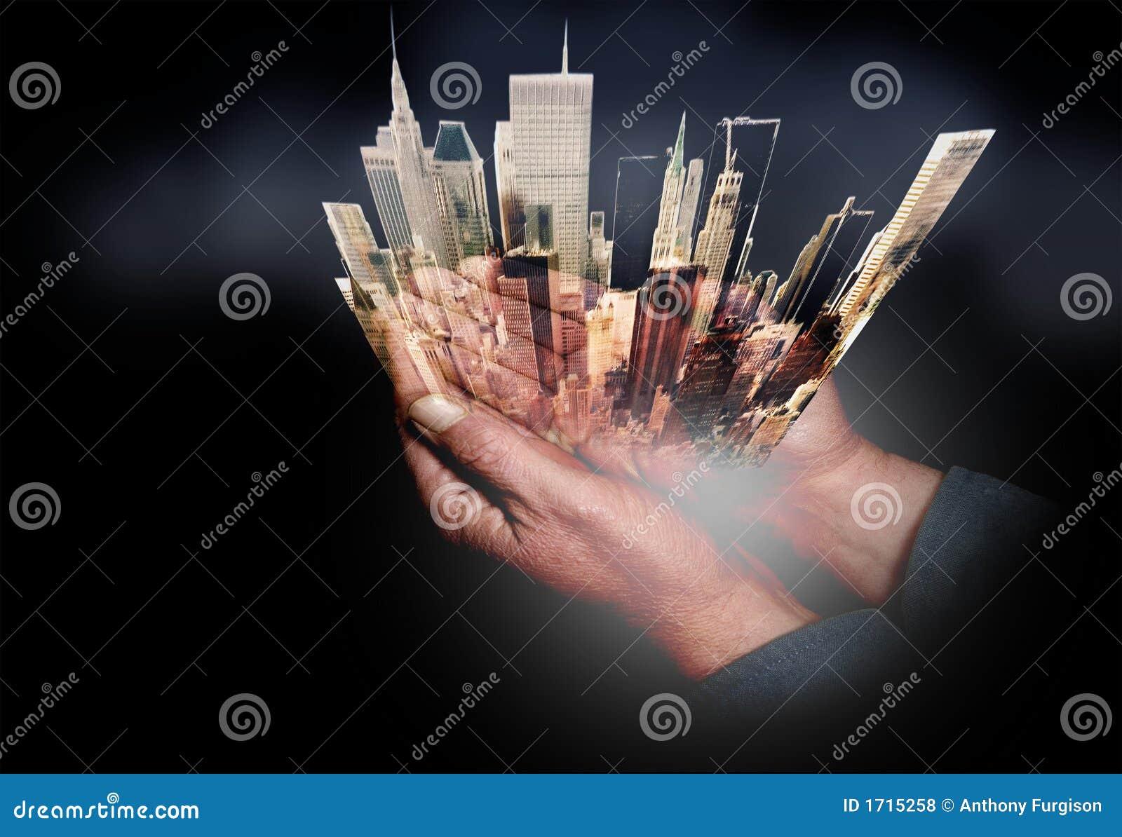 Miasto cupped ręce, nowy jork