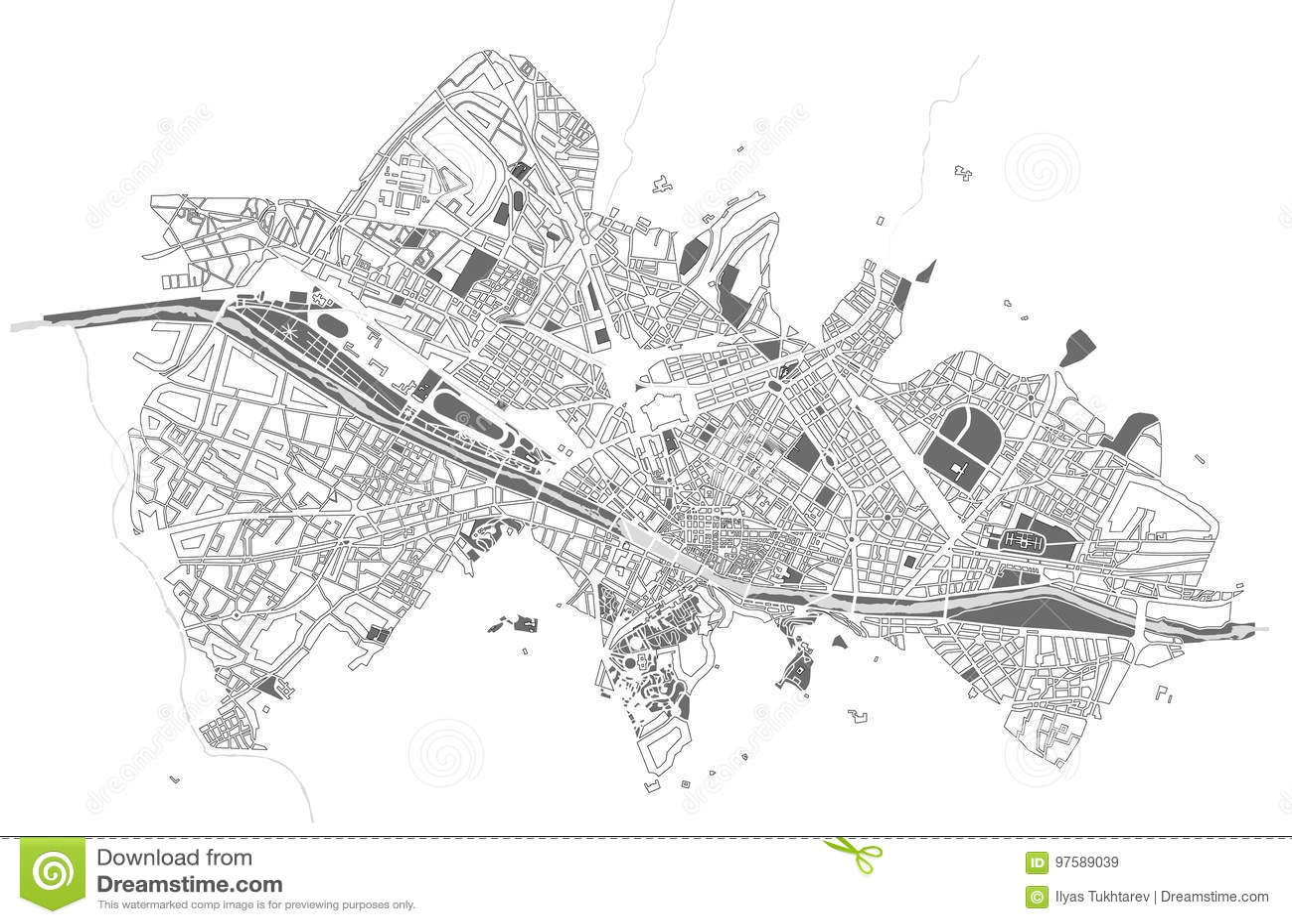 Miasto mapa Florencja, Włochy