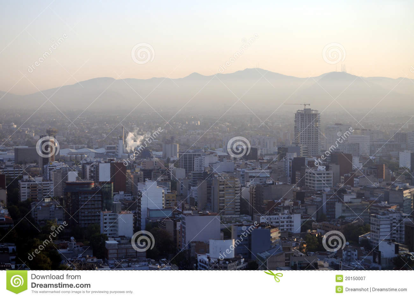 Miasto nad smogiem Mexico