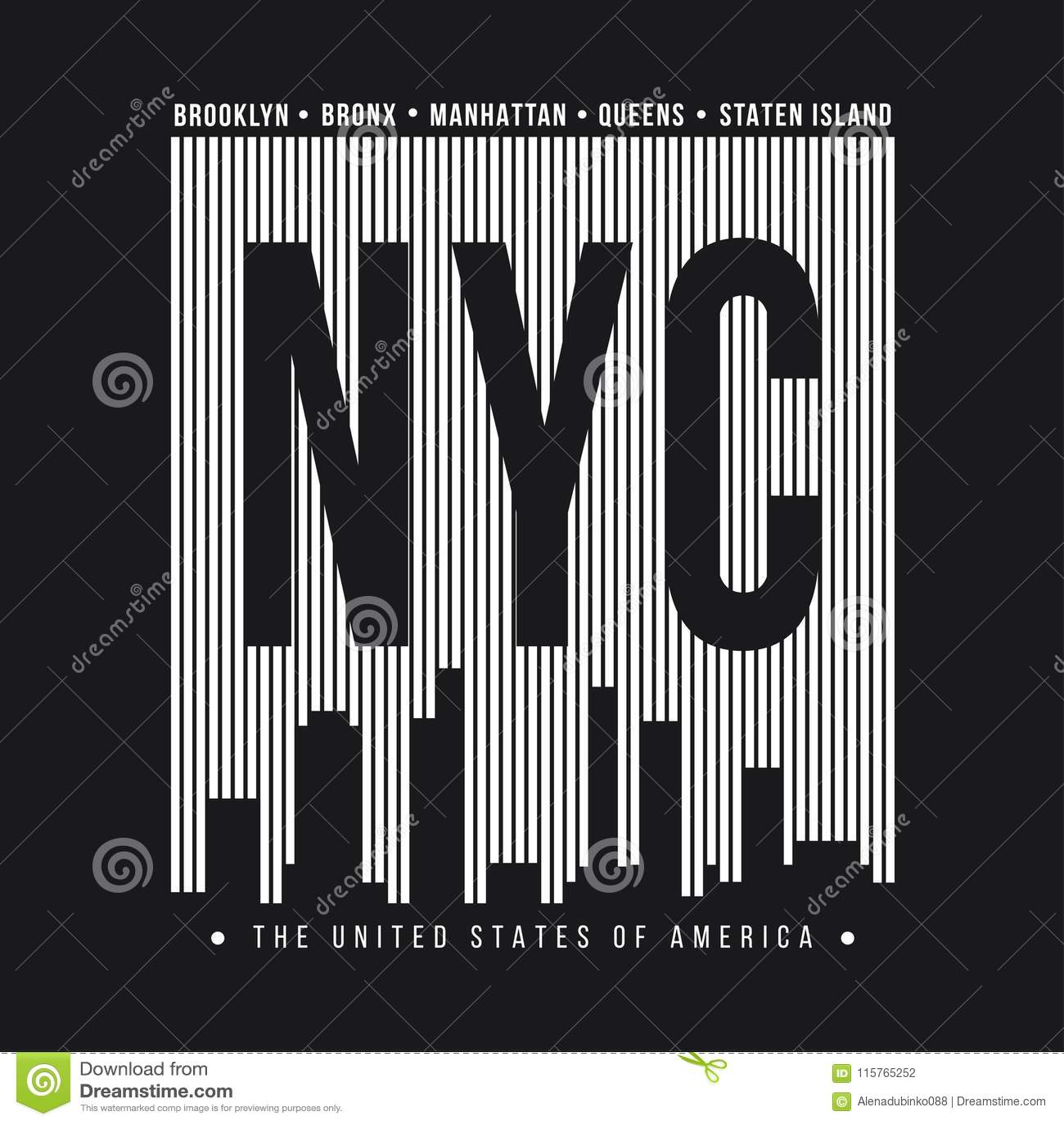 Miasto Nowy Jork dla koszulka druku Nowy Jork linii horyzontu sylwetka Koszulek grafika