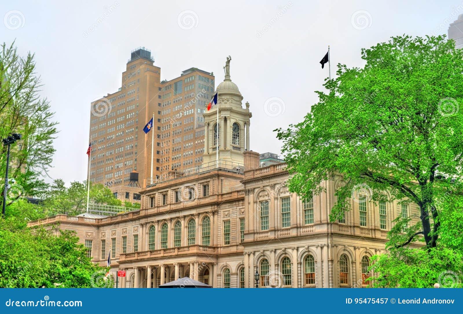 Miasto Nowy Jork Hall w Manhattan