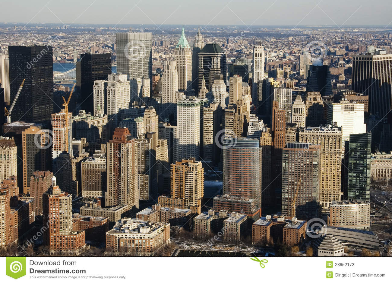 Miasto Nowy Jork Manhattan linia horyzontu