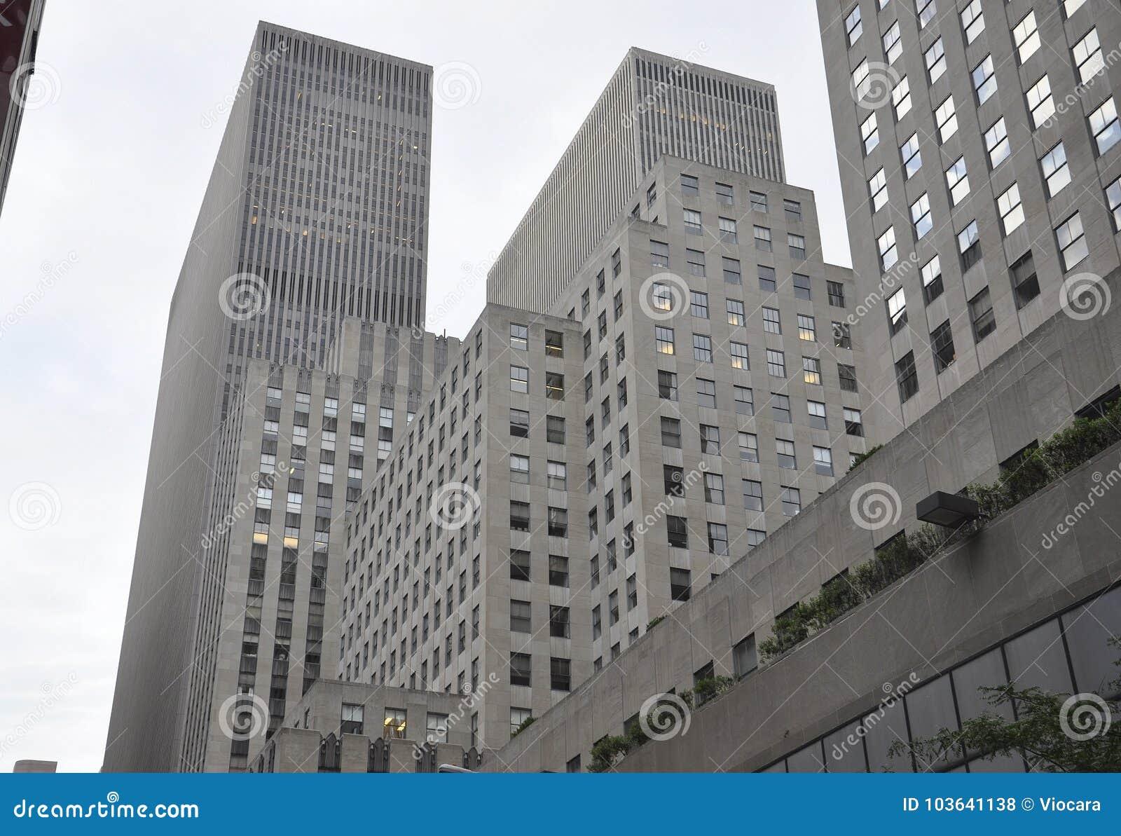 Miasto Nowy Jork, 2nd Lipiec: Rockefeller drapaczy chmur szczegóły w Manhattan od Miasto Nowy Jork w Stany Zjednoczone