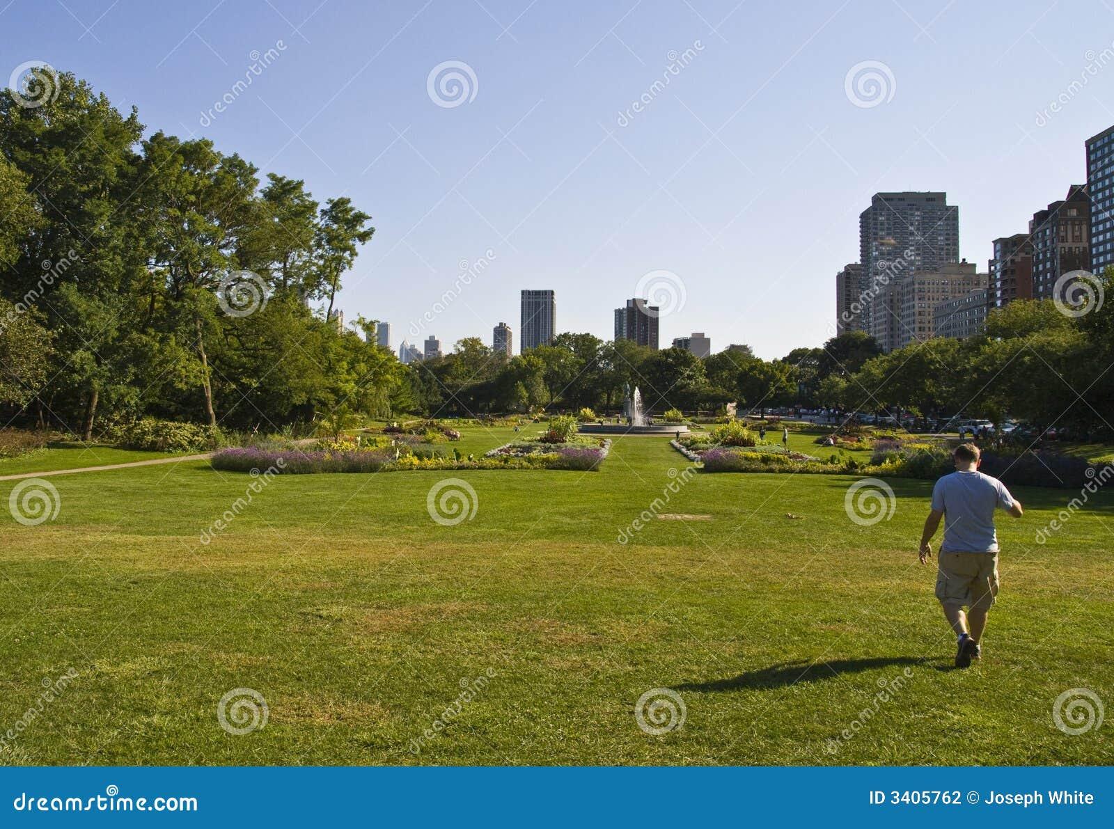 Miasto park waling faceta