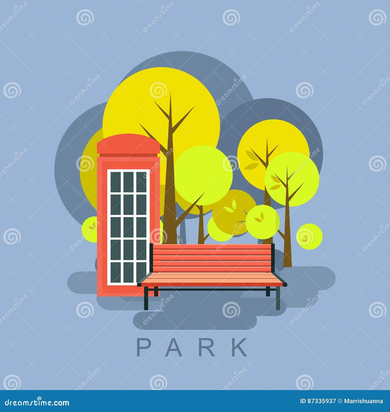 Miasto Parkowa ilustracja