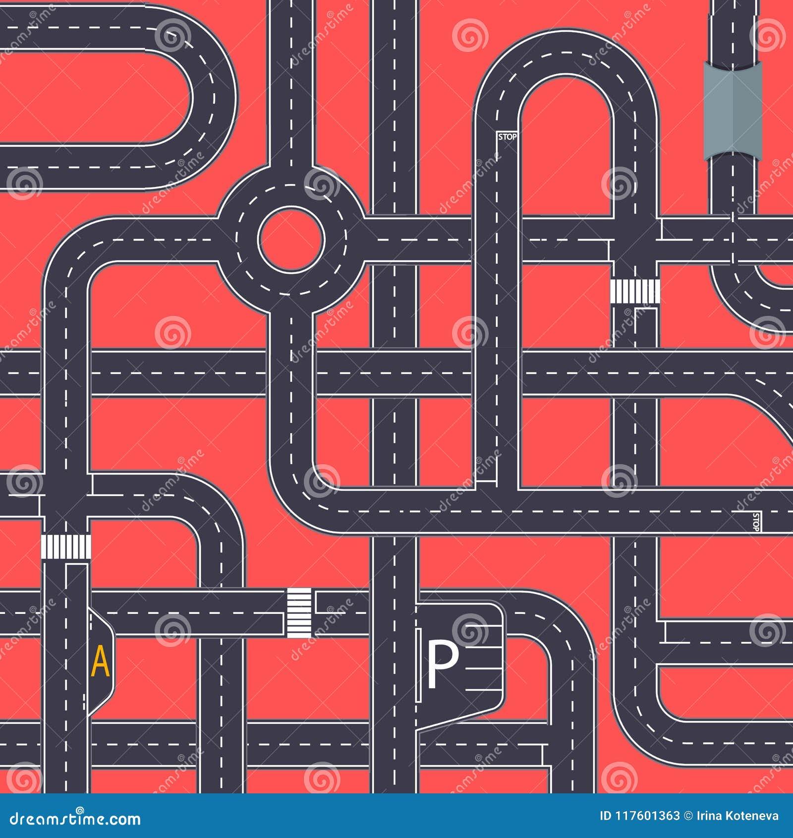Miasto ruchu drogowego tło z autostrad drogami
