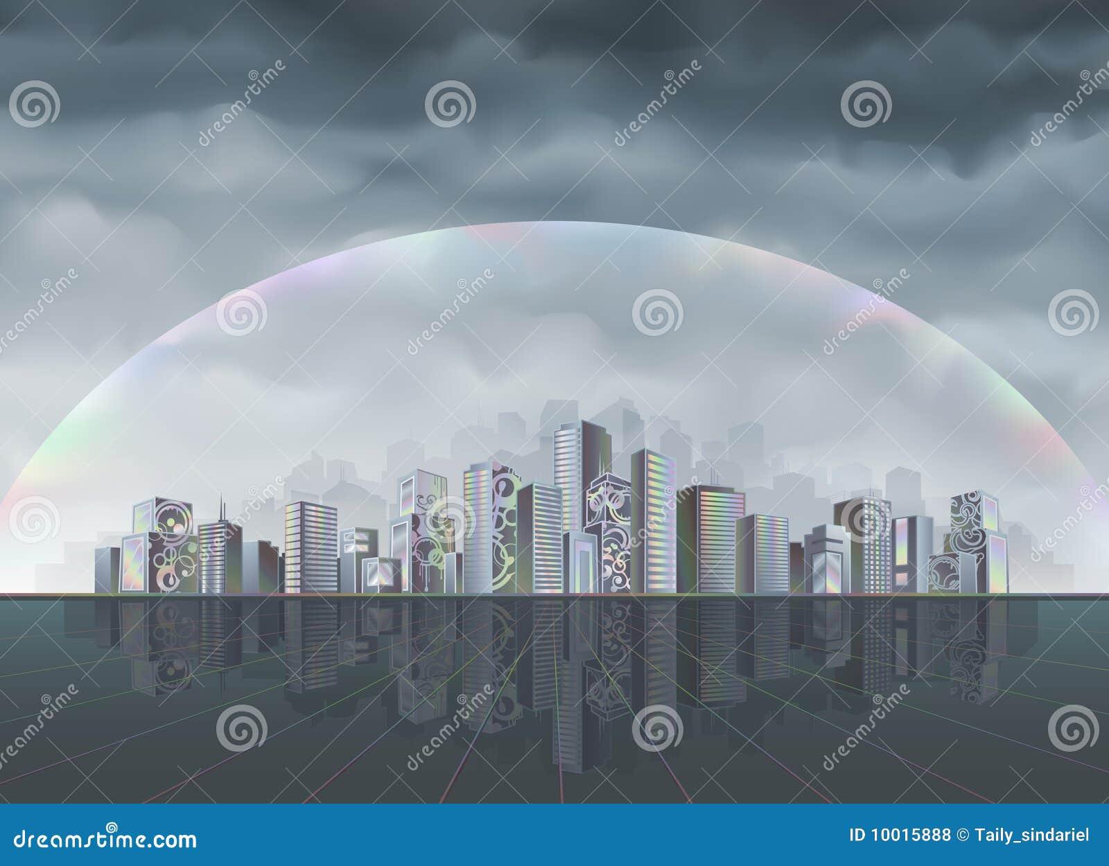 Miasto tęcza
