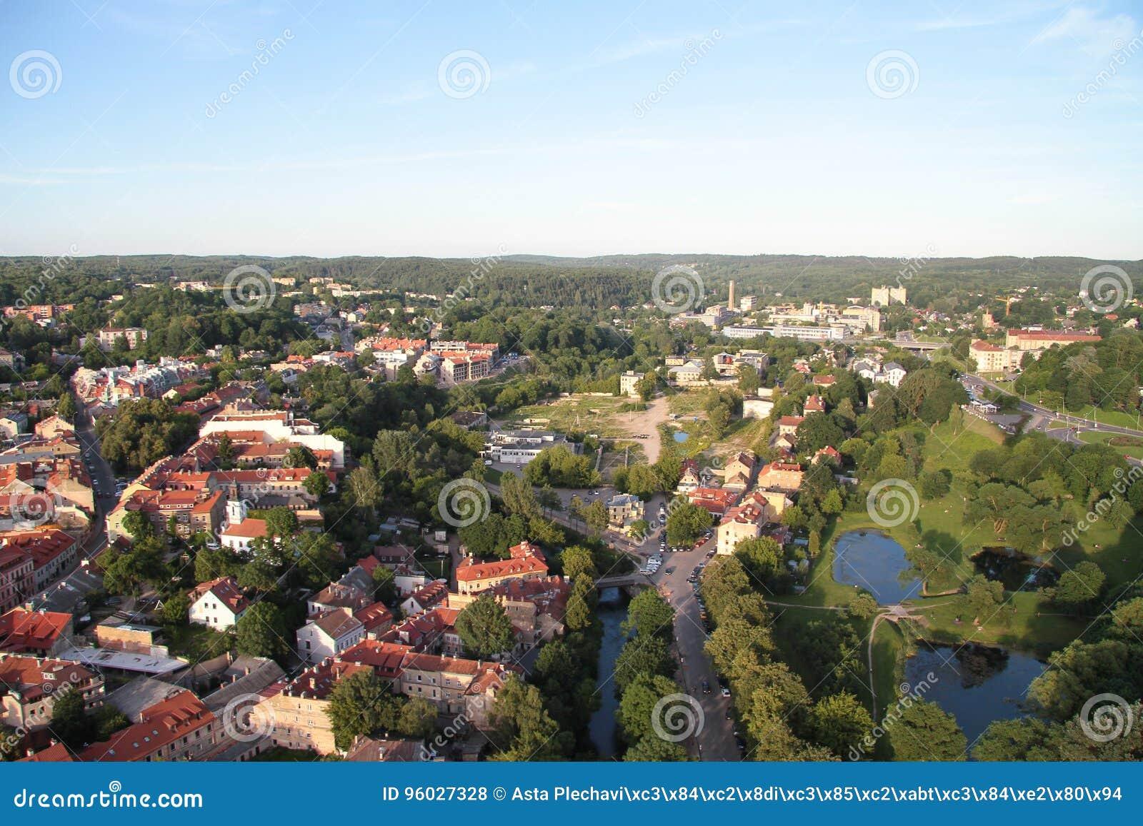 Miasto Vilnius & x28; Lithuania& x29; , widok z lotu ptaka