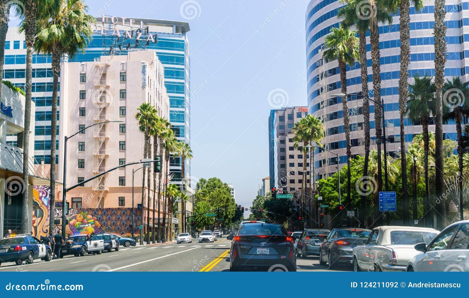 Miastowy krajobraz w San Jose, Kalifornia