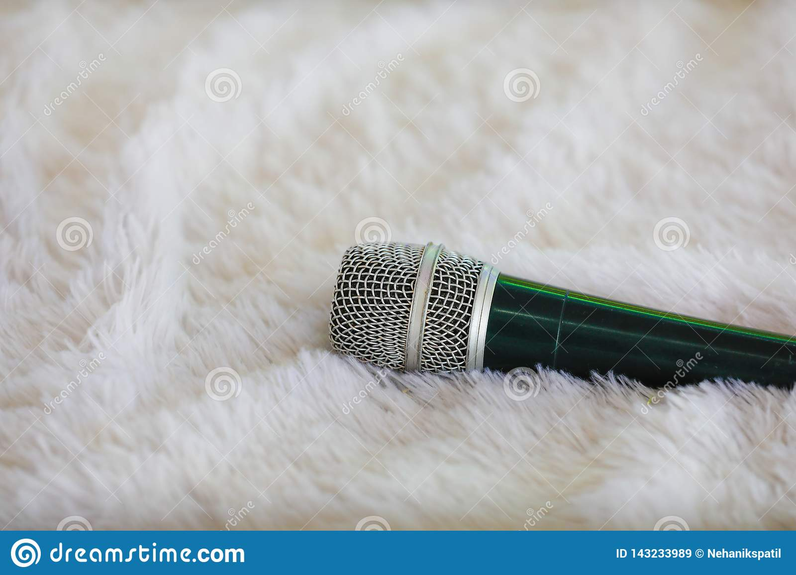 Mic on cloth , sound equipment ,