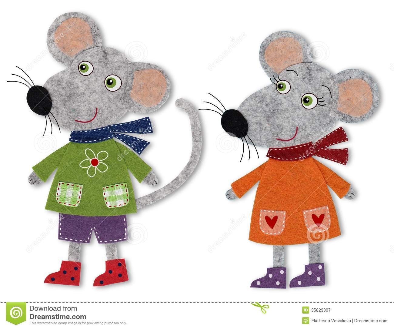 Mice, Cartoon Characters Royalty Free Stock Photography - Image ...
