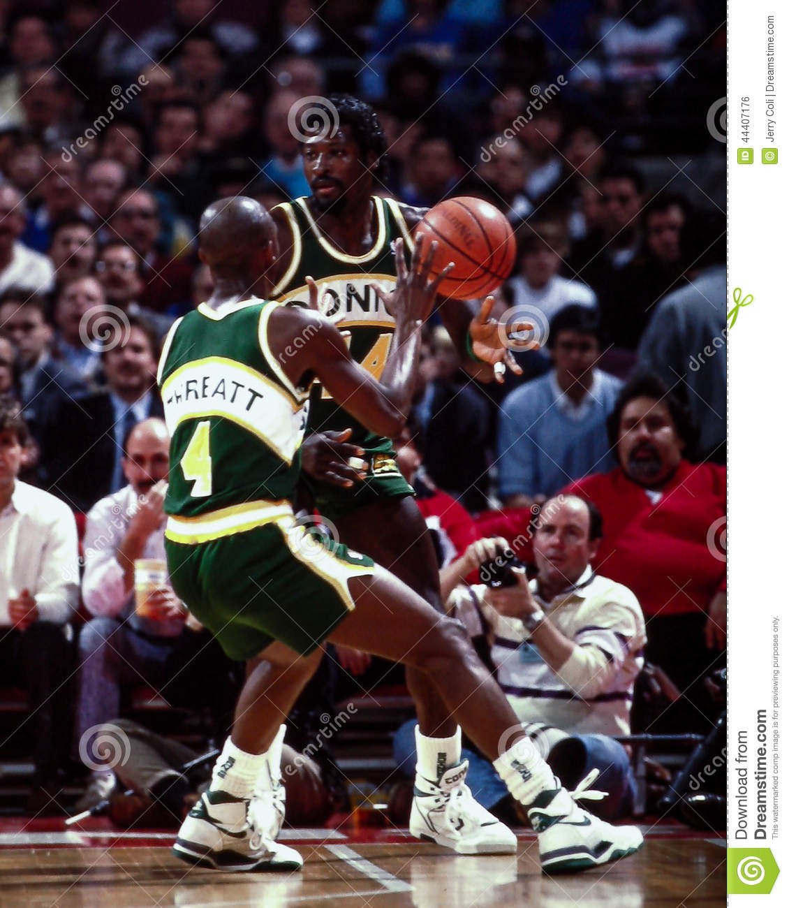 Michael Cage Seattle Supersonics Editorial Image