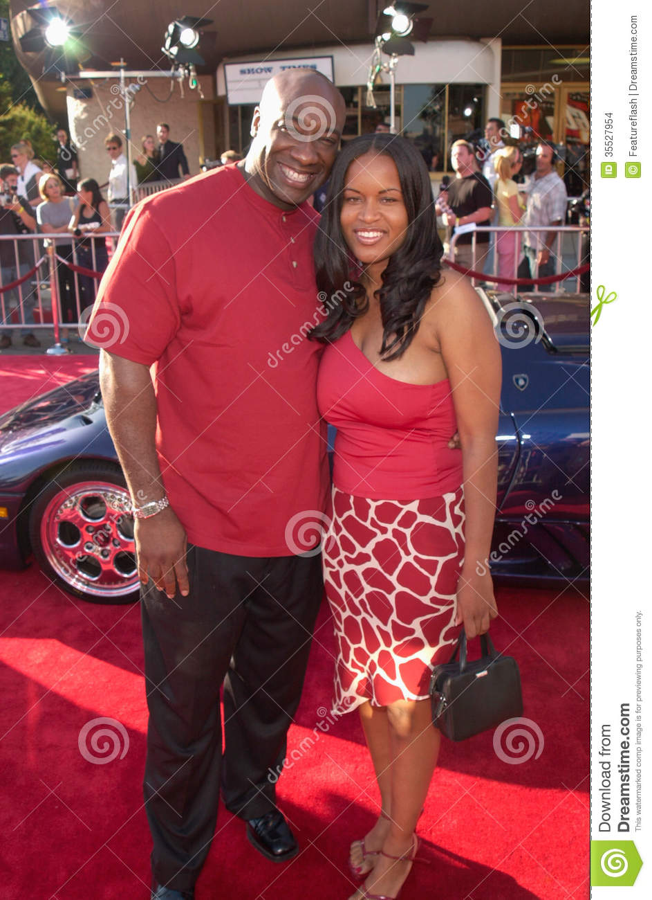 Actor MICHAEL CLARKE DUNCAN & girlfriend at the world premiere, in ...