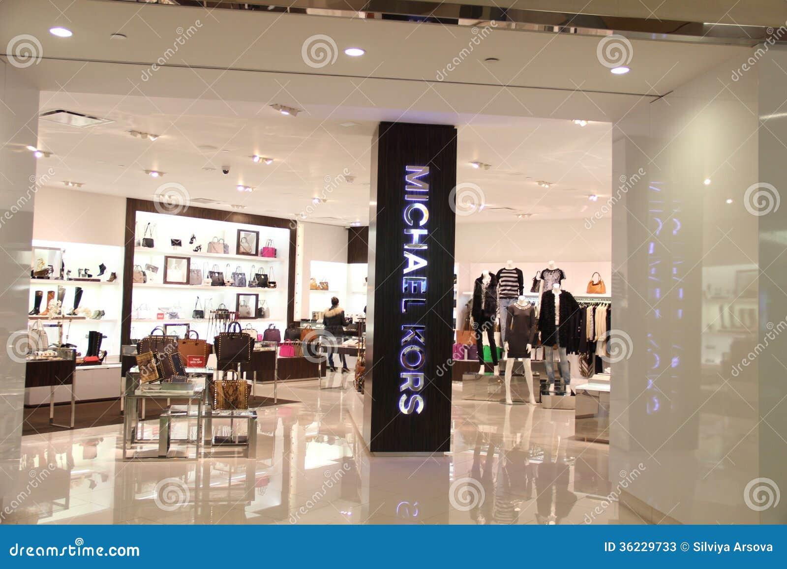 michael kors fashion store editorial stock photo image 36229733. Black Bedroom Furniture Sets. Home Design Ideas
