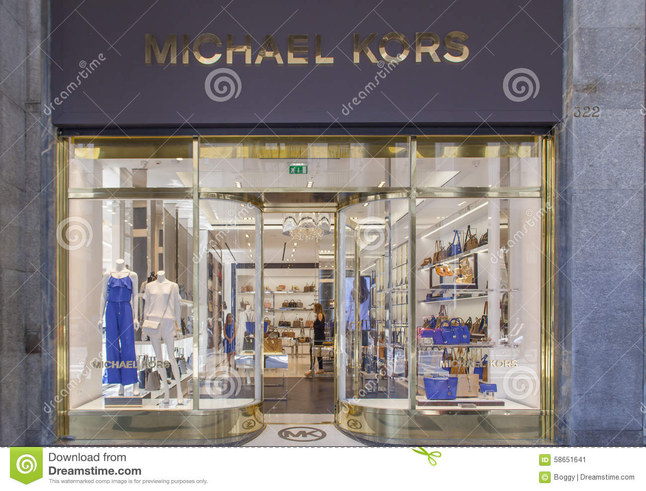 6e71d1f78260 Michael Kors shop editorial photo. Image of torino