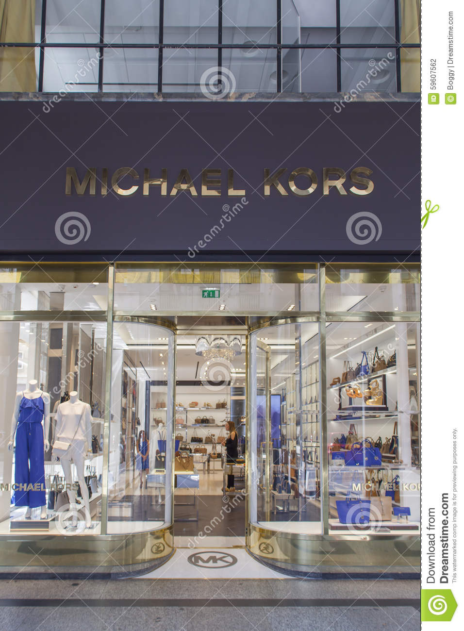 20dfe9722ce0 Michael Kors shop editorial photography. Image of turin - 59607562
