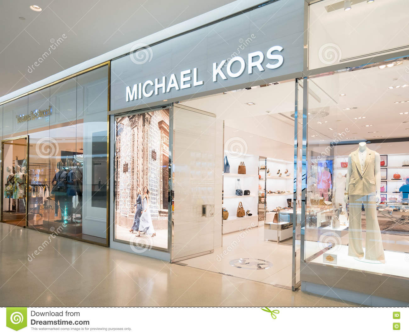 michael kors store at central embassy shopping mall downtown in editorial photography image of. Black Bedroom Furniture Sets. Home Design Ideas