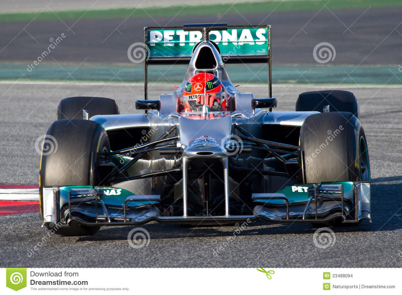 Michael Schumacher Mercedes Editorial Stock Image Image Of Motorsport Driving 23488094