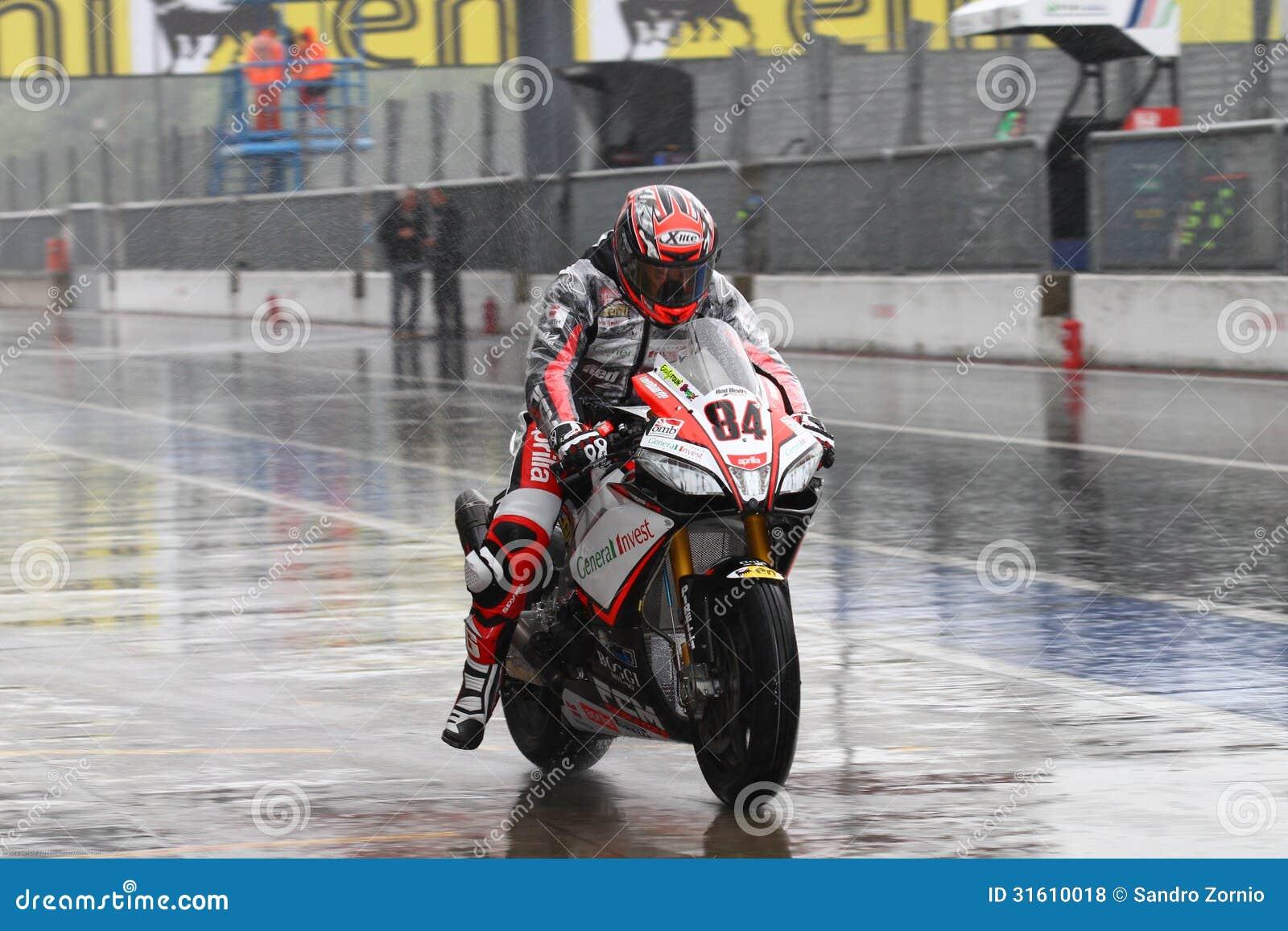 Michel Fabrizio #84 on Aprilia RSV4 1000 Factory Red Devils Roma Superbike WSBK