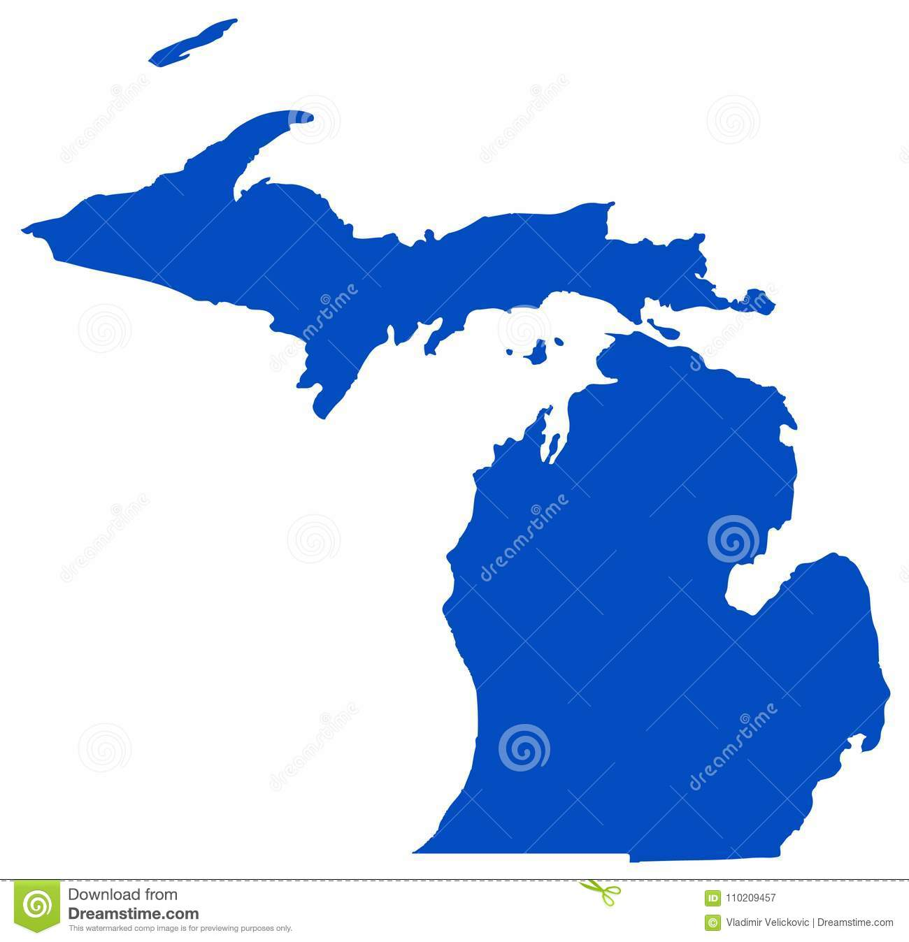 Michigan Map - State In The Great Lakes And Midwestern Regions Of ...