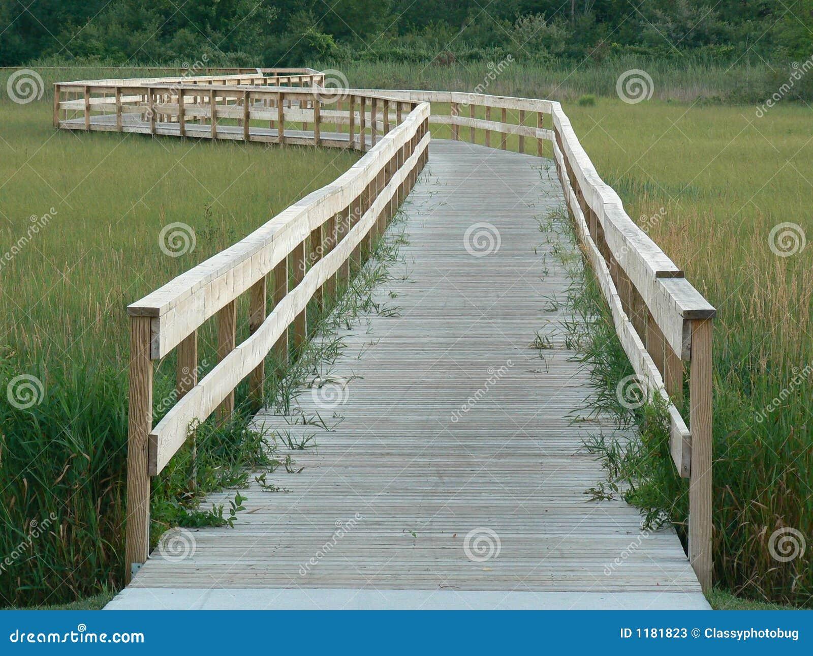 Michigan walkway wooden