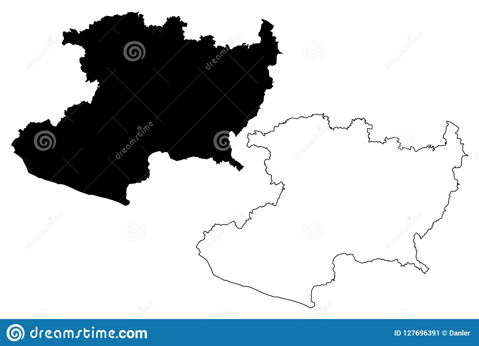 Michoacan map vector stock vector. Illustration of icon - 127696391