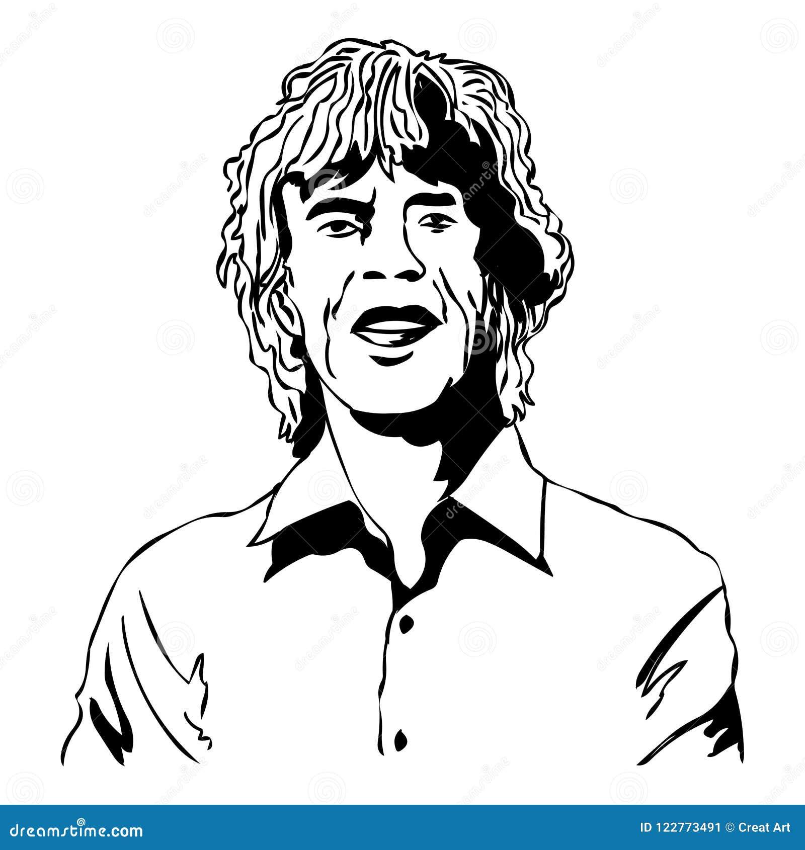 Mick Jagger Ejemplo del vector de Mick Jagger