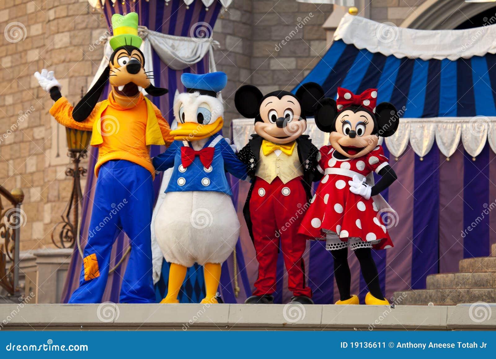 Mickey en Minnie Muis, Donald Duck en Goofy