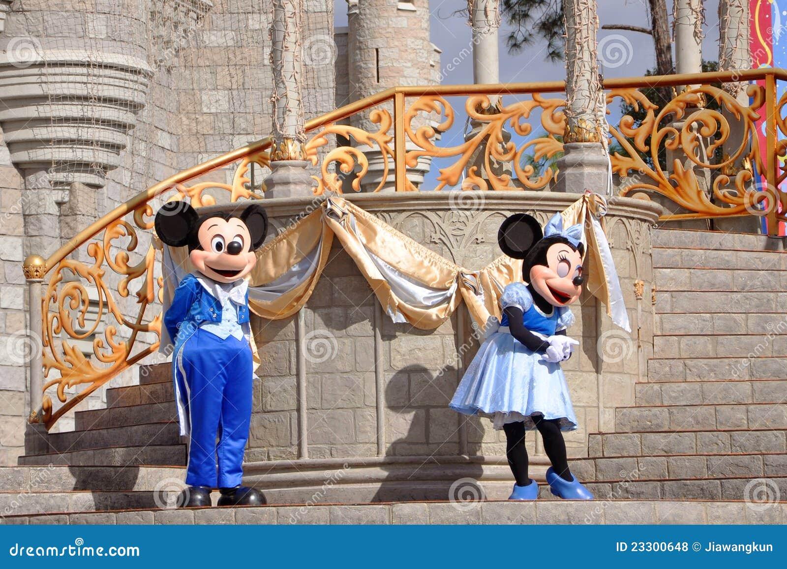 Mickey en Muis Minnie in de Wereld van Disney