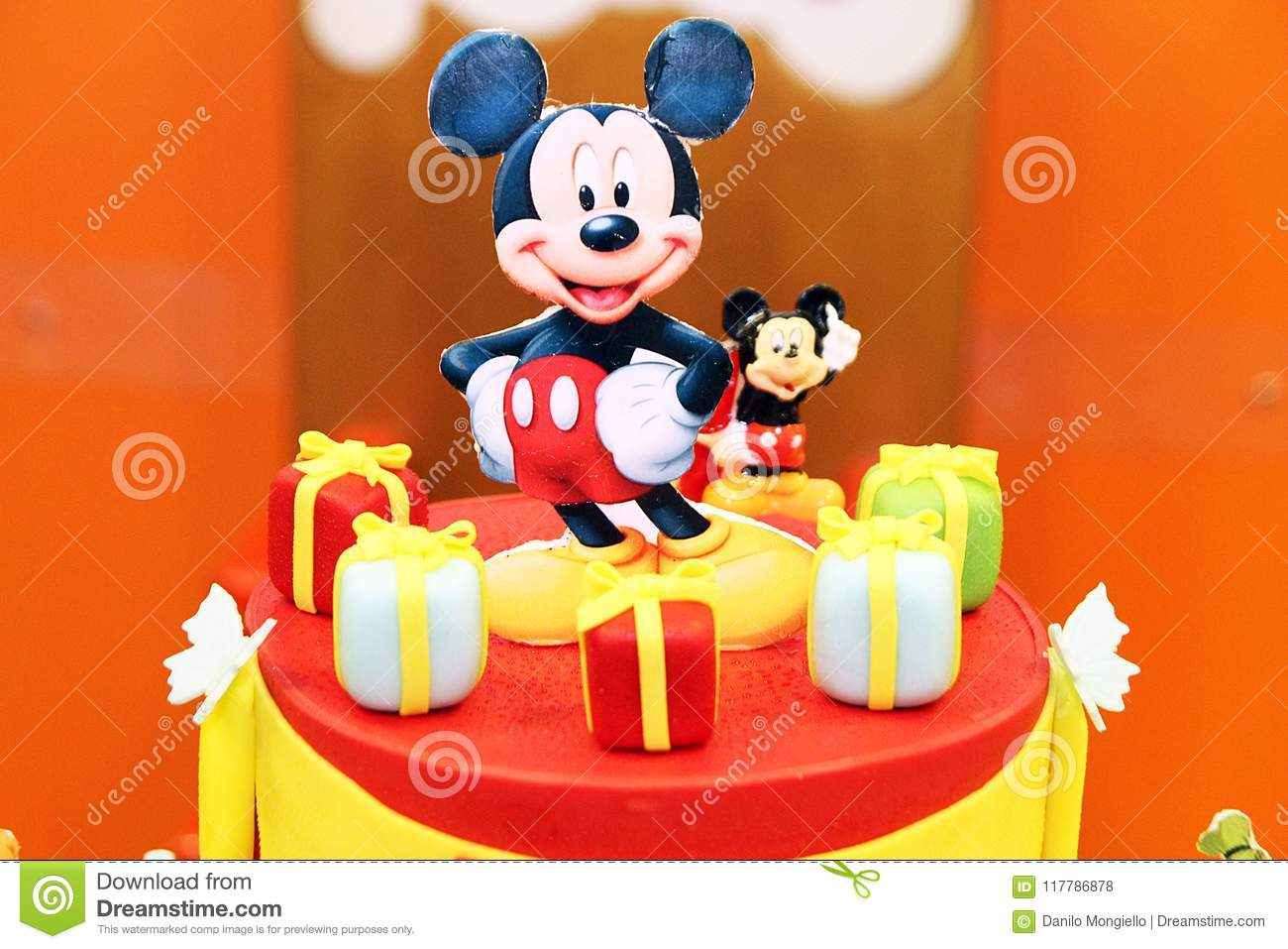 Mickey Mouse Cake Editorial Stock Photo Image Of Children 117786878