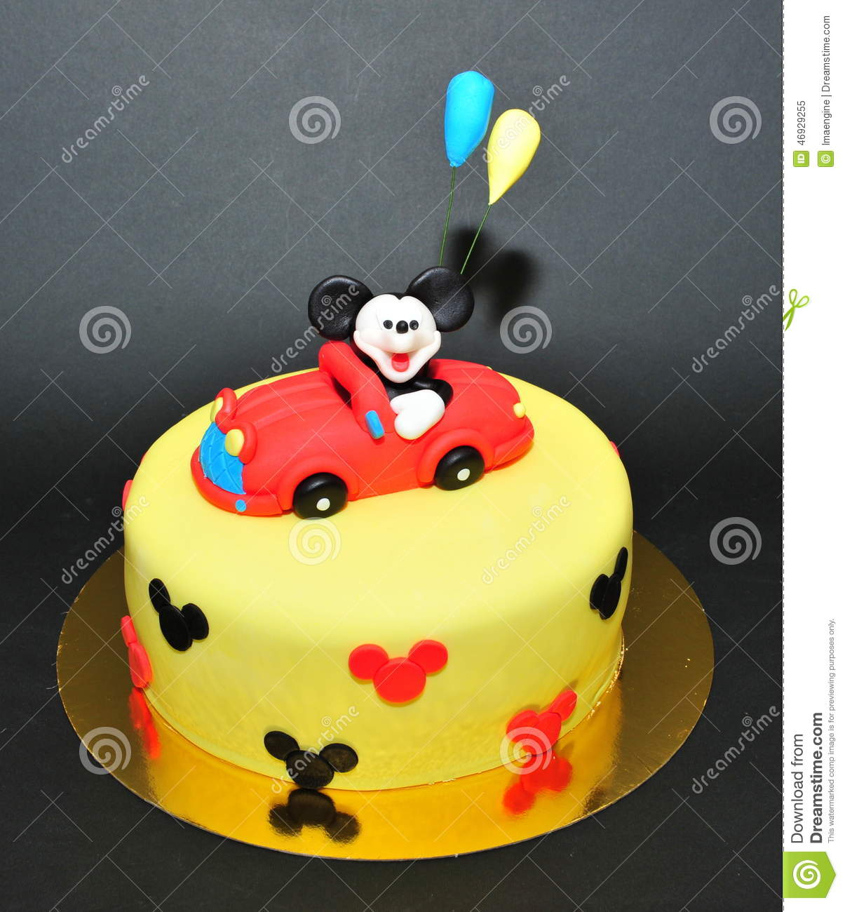 Mickey Mouse Fondant Cake Editorial Image Image Of