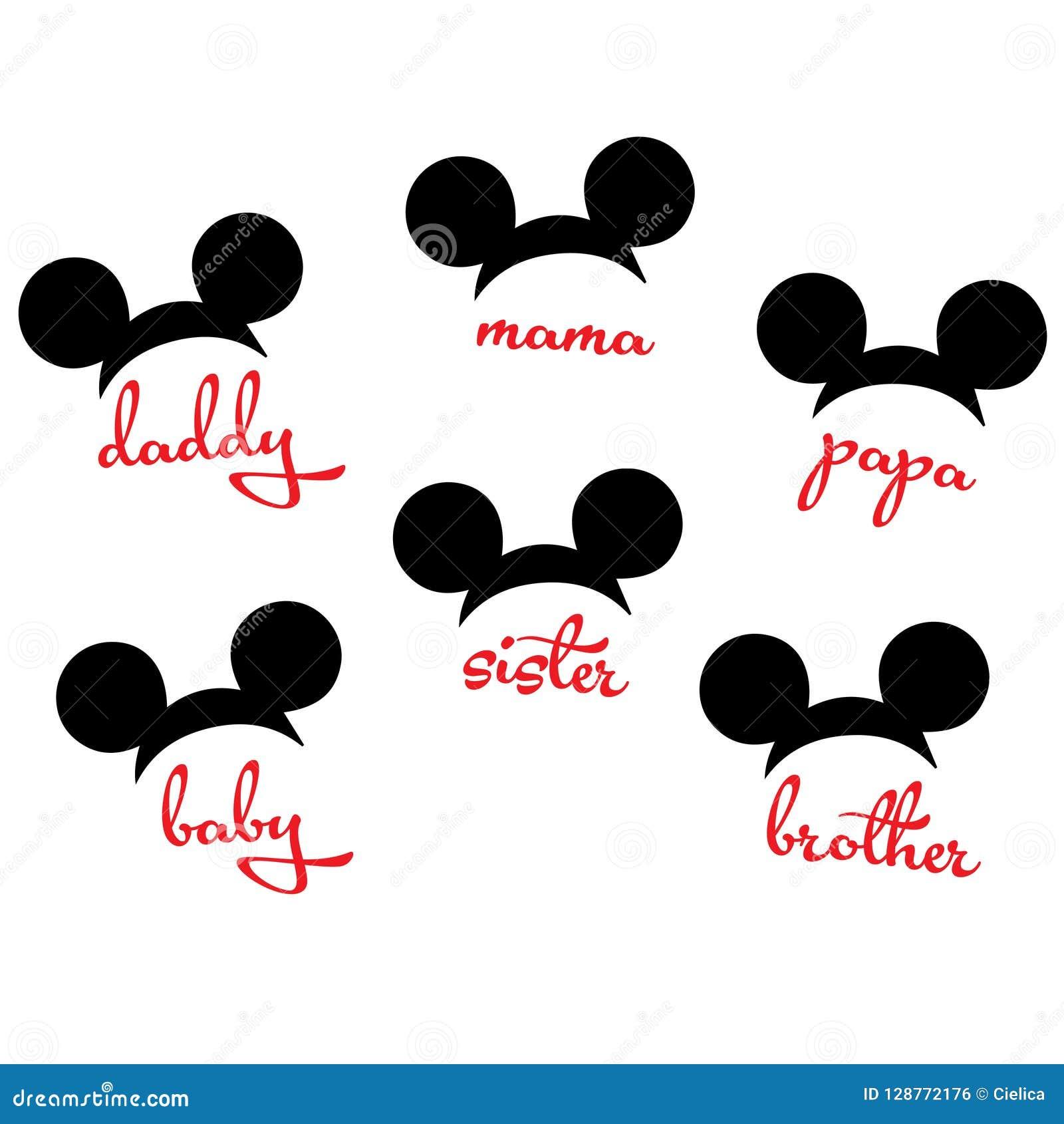Mickey Mouse Minnie-vector het beeld scherp dossier van de muis hoofdfamilie