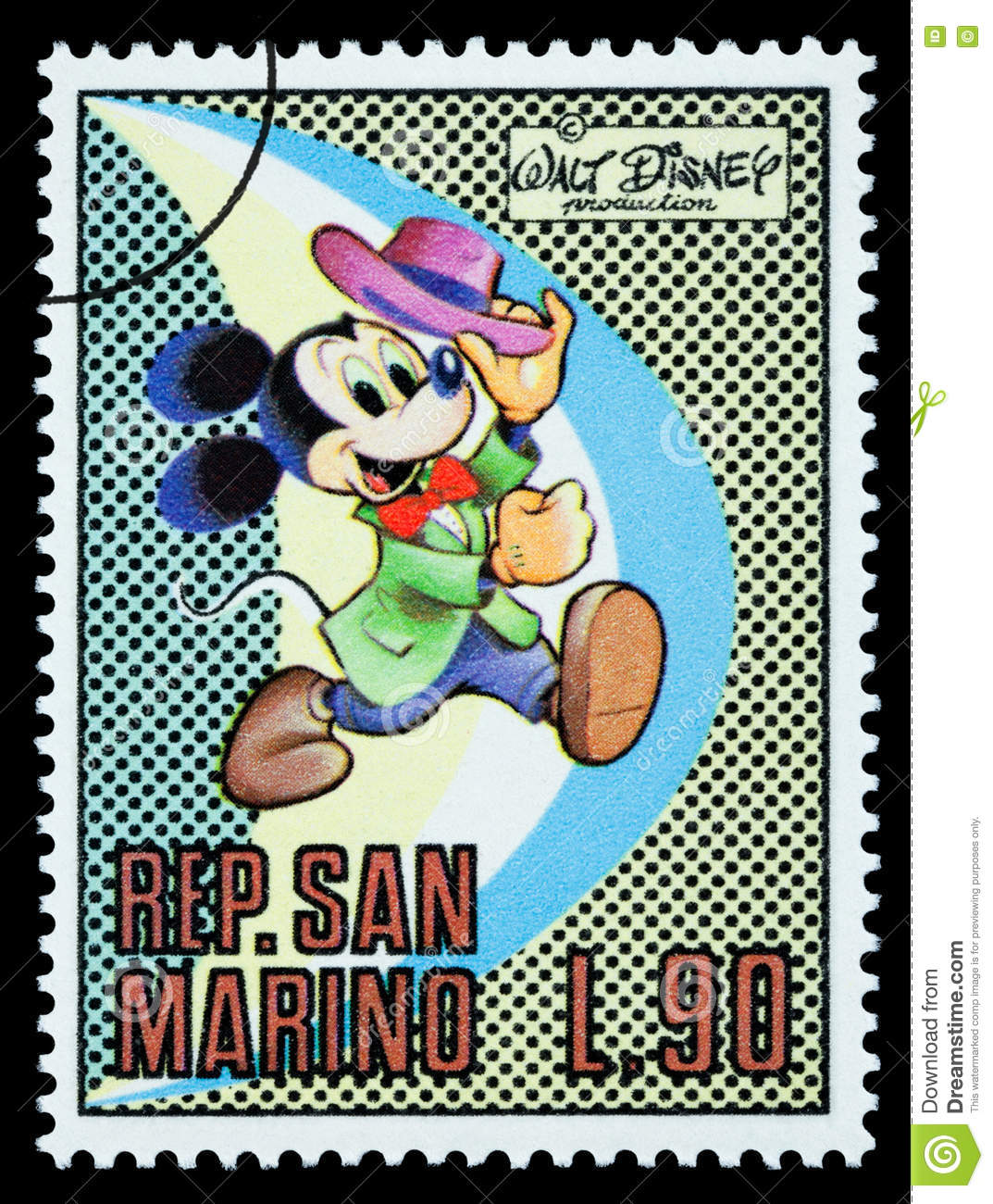 Mickey Mouse Postage Stamp