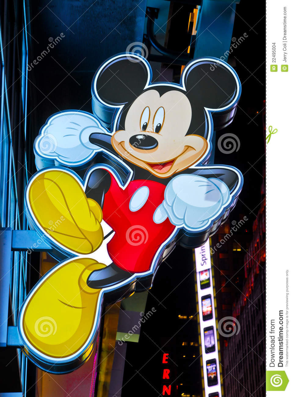 Mickey mouse sign at times square disney store editorial stock image image 22495004 - Disney store mickey mouse ...