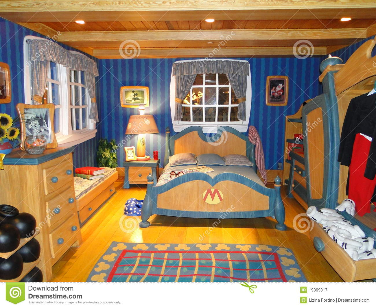 Mickey S Bedroom In Disneyworld