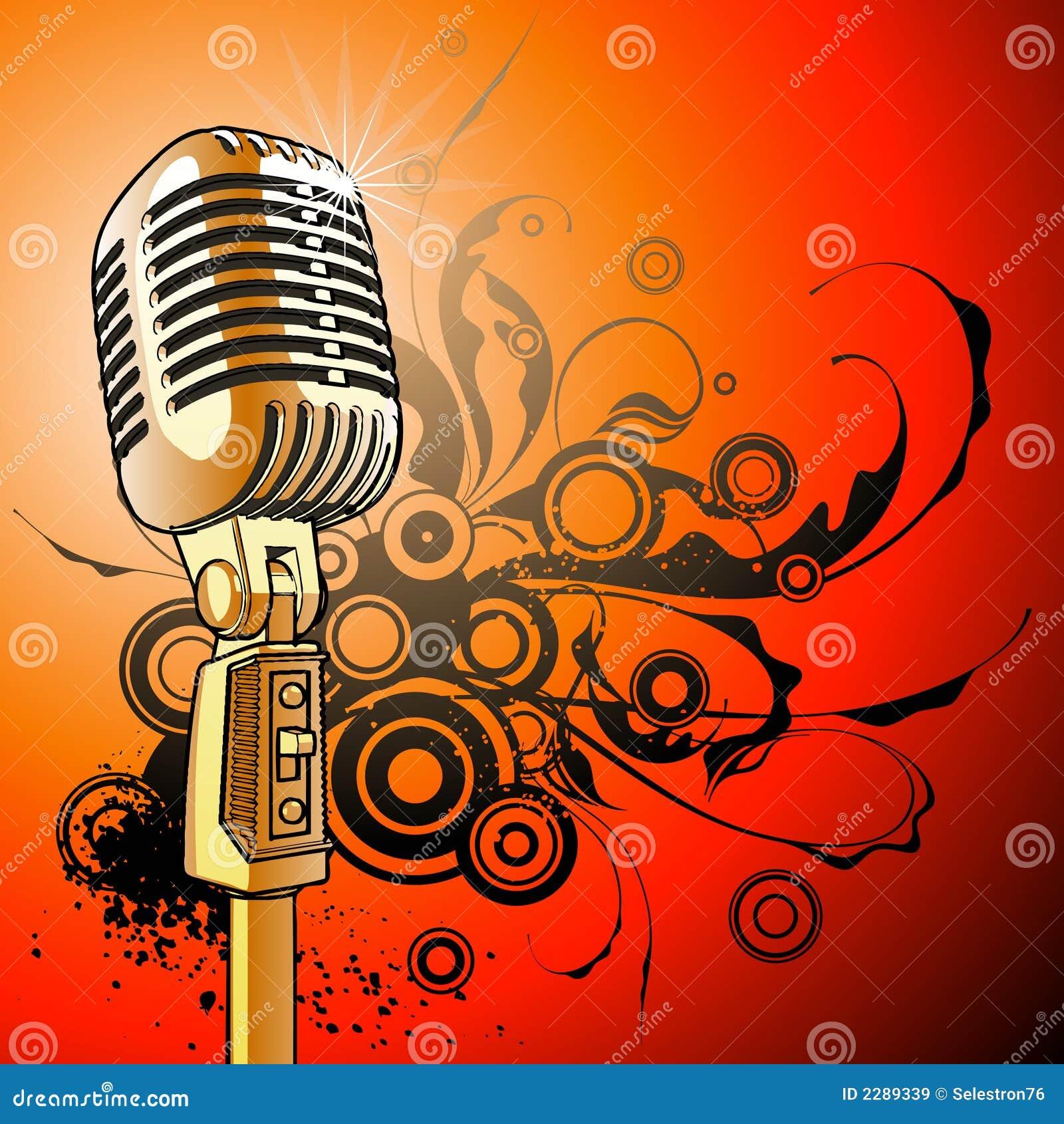 Microfono De La Vendimia Vector Ilustracion Del Vector