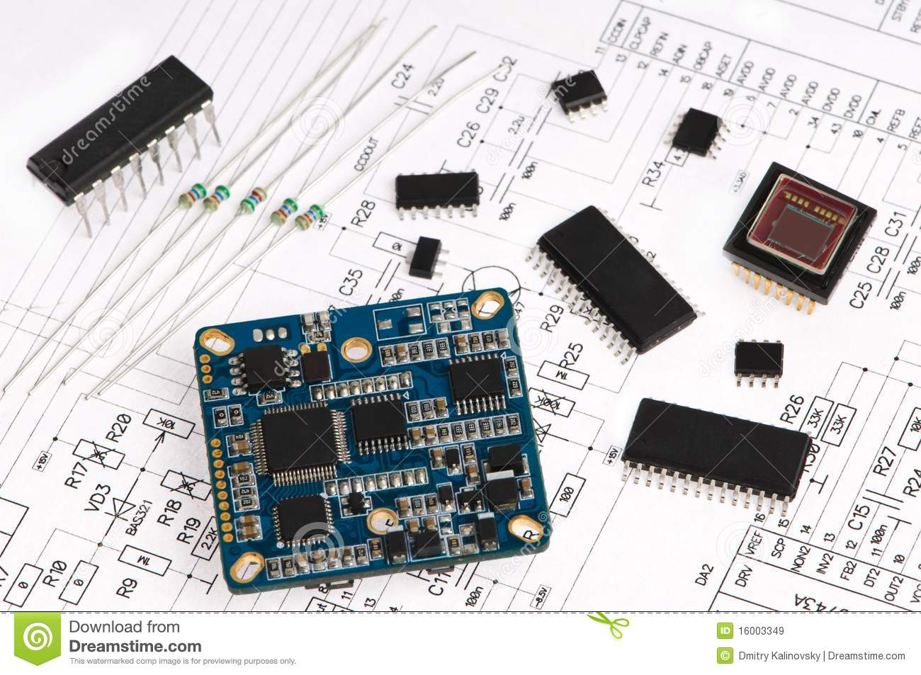 Micro Electronics Element Royalty Free Stock Images