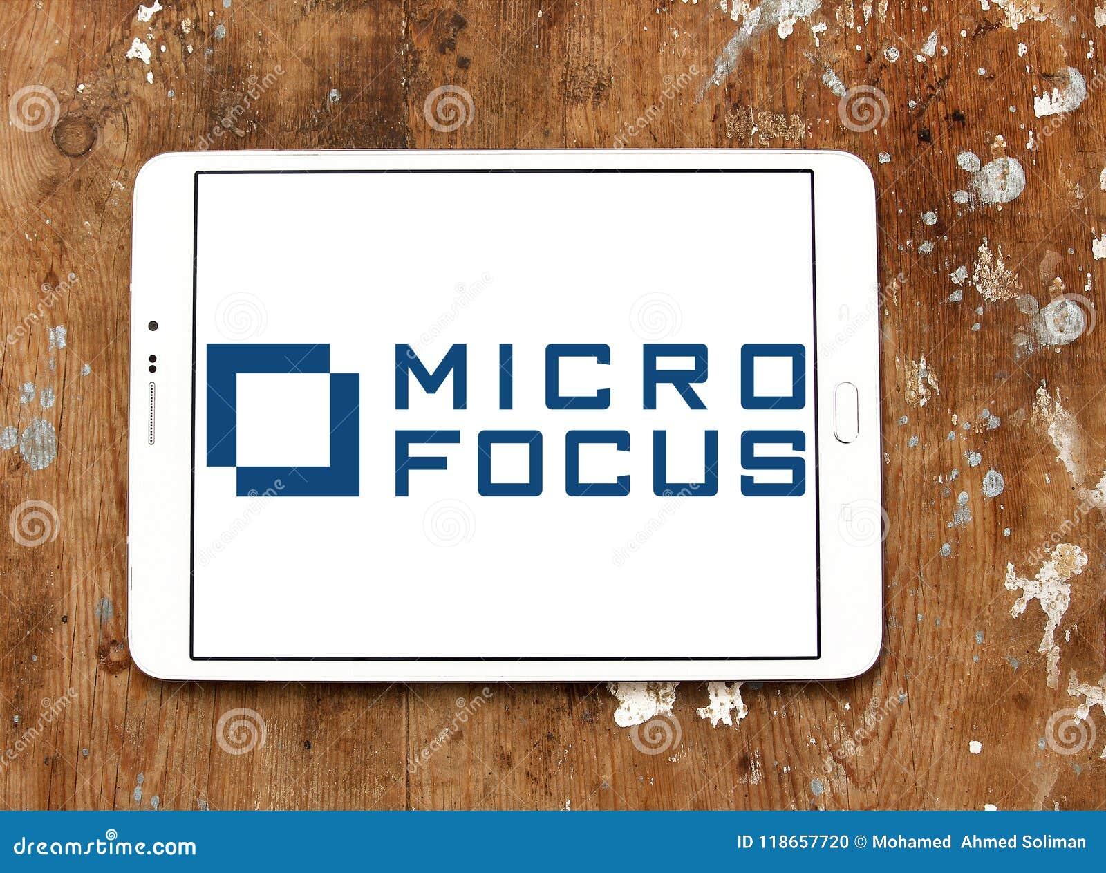 Micro Focus company logo editorial image  Image of