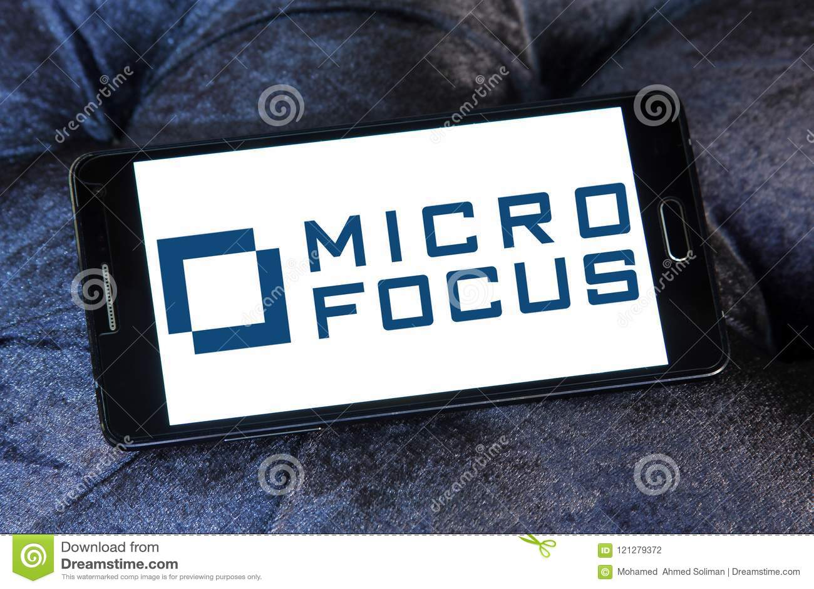 Micro Focus company logo editorial photography  Image of