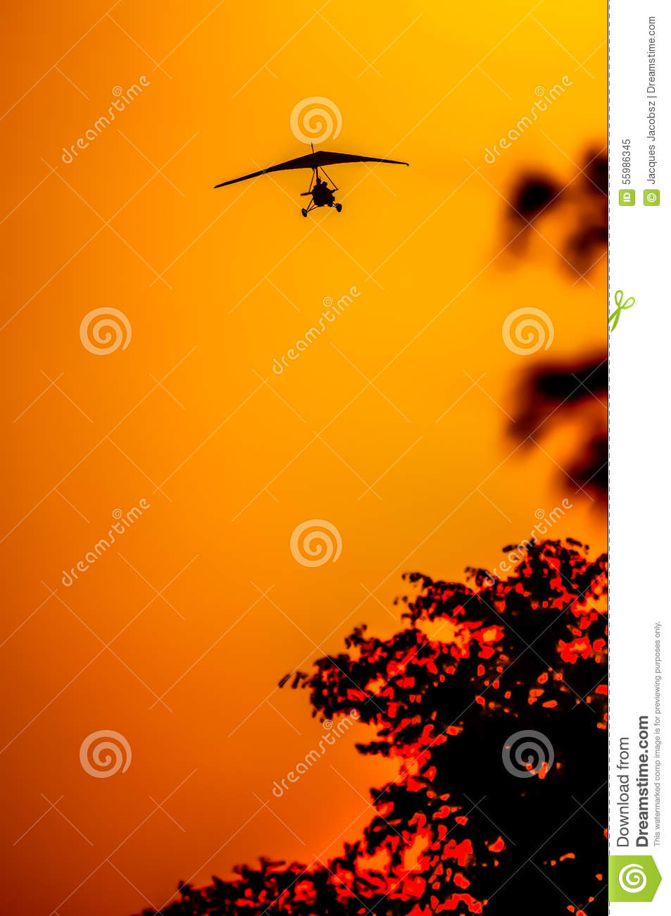 Micro Light Coming In For Landing. Stock Photo - Image ...