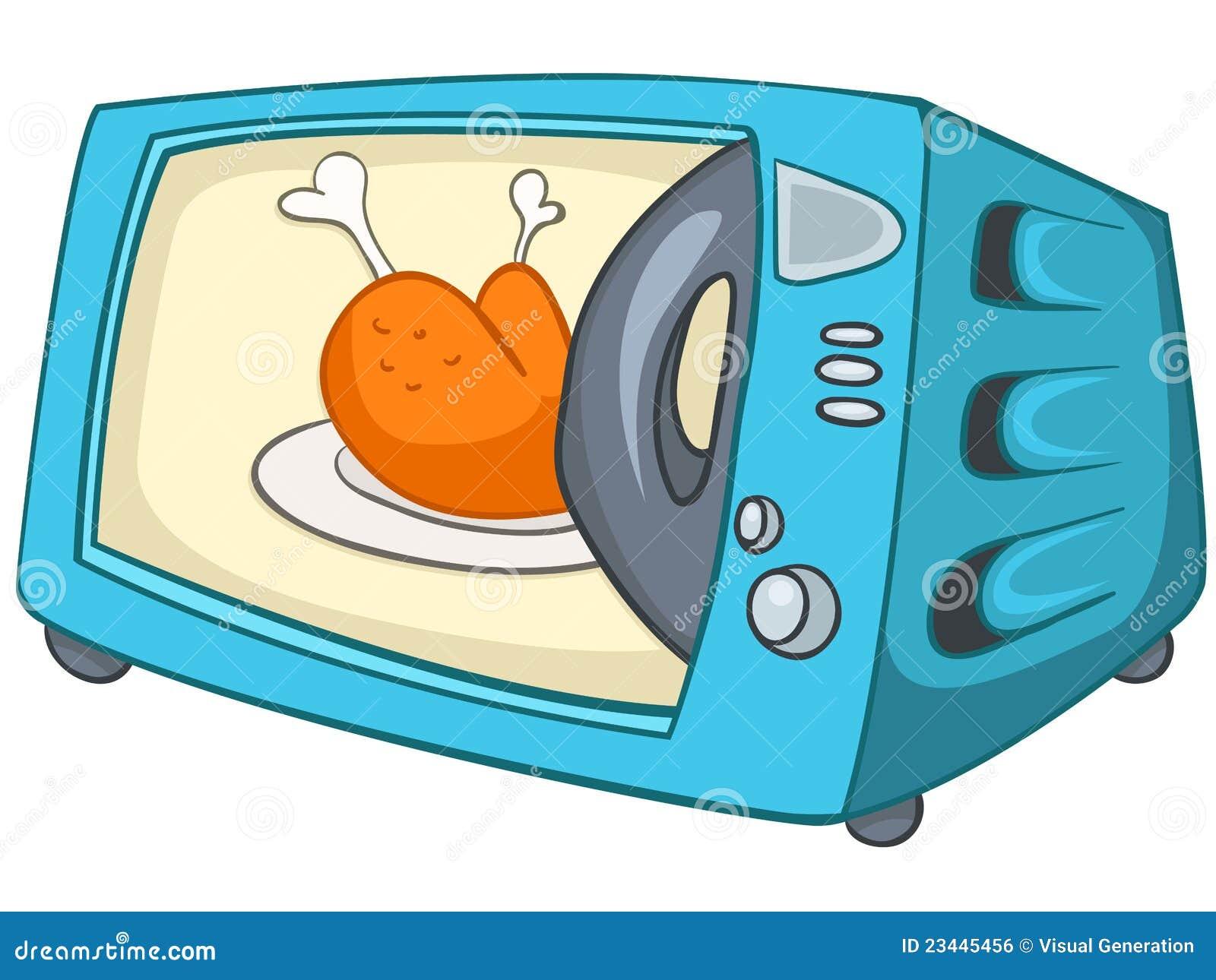 micro onde la maison de cuisine de dessin anim image libre de droits image 23445456. Black Bedroom Furniture Sets. Home Design Ideas